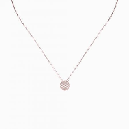 04a - Circle CZ Necklace