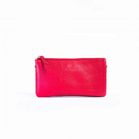 Pebble Grain Leather Slim Crossbody-Red_K3-0231_3000px