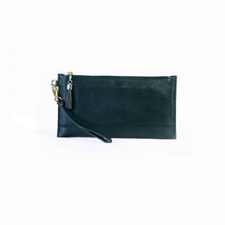 Pebble Grain Leather Clutch Wristlet-Tassel-Black_K3-0255_3000px