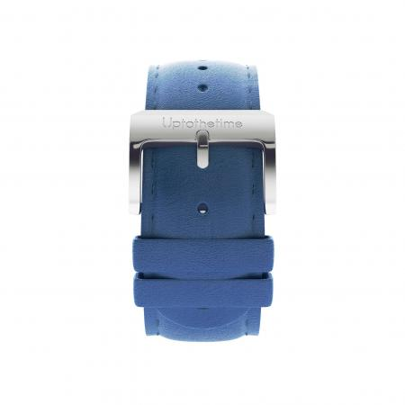 02a - Strap - Blue Leather - Silver Buckle