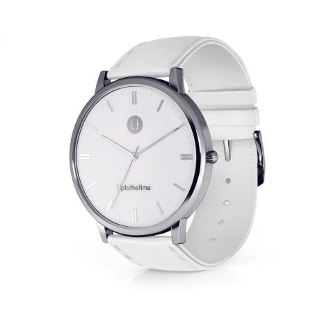 12 - myDream Silver Watch with white strap-no number_resize